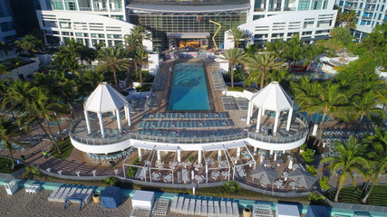 Westin Diplomat Hotel pool deck aerial photo