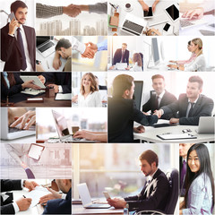 Collage of business people. Teamwork concept