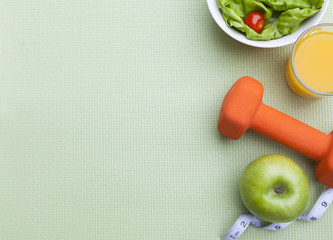 Healthy Lifestyle Diet and Fitness Background