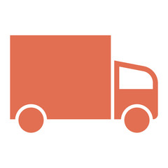 Truck icon - Flat design, glyph style icon - Colored