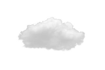 Keuken foto achterwand Hemel Single white nature cloud isolate on white background