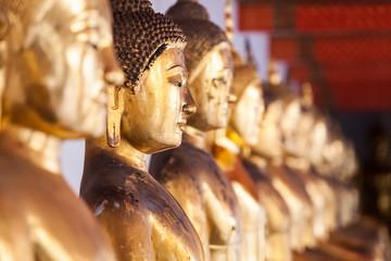 gold buddha closeup