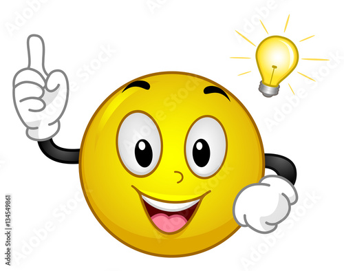 """""""Smiley Idea Light Bulb Moment"""" Stock Image And Royalty"""