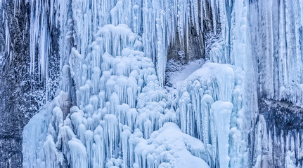 Frozen waterfall background