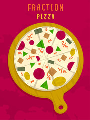 Math Fraction Pizza Shapes
