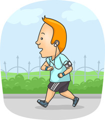 Man Running Exercise