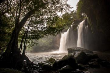 Haewsuwat waterfall at Khao Yai National Park, Thailand.(The Wor