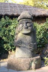 stone grandfather in Jeju Island, Korea