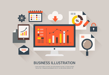 Vector business flat illustration