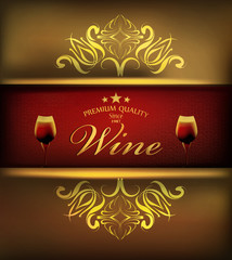 Cover wine menu patterned background