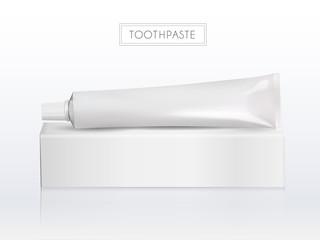 Blank toothpaste tube