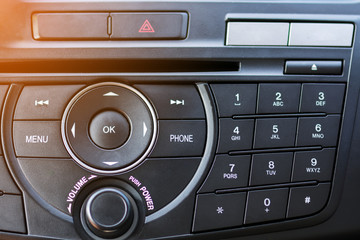 Number Pad of Car Dashboard