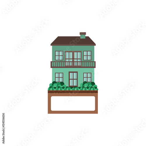 House with two floors and balcony vector illustration for Balcony vector