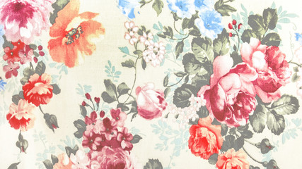 Retro Laces Fabric in Floral Abstract Seamless Pattern on Textile Texture Background, used as Furniture Material or Vintage Style Interior Design