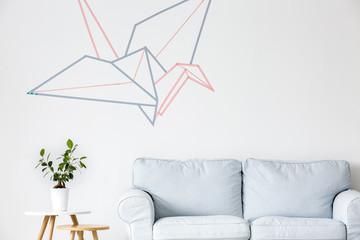 Origami crane graphic