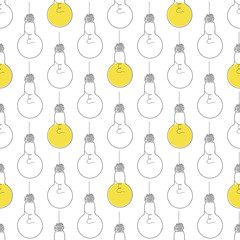 Seamless Pattern with Lightbulb