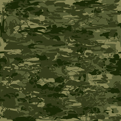 Abstract vector military camouflage seamless pattern.