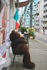 Toy Bear Waiting to Greet Customers