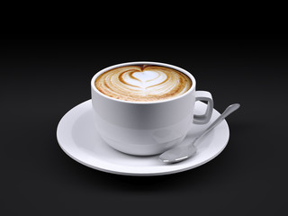 cappuccino cup with spoon