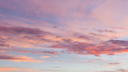 Beautiful colors sunset clouds