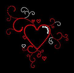 Vintage hearts