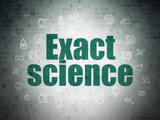 Science concept: Exact Science on Digital Data Paper background