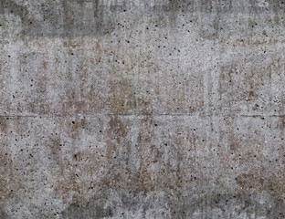 Seamless grungy withered concrete wall texture.