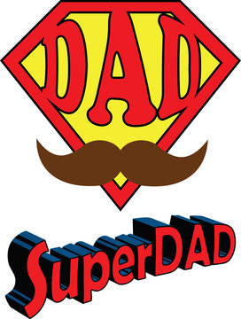 SuperDad logo themed for Father's Day