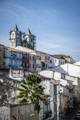 Panoramic of Pelourinho district in Salvador do Bahia