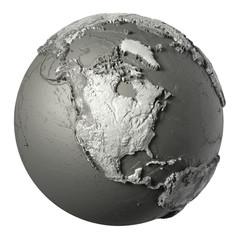 3D Globe North America