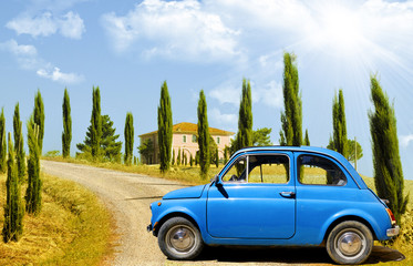 Recess Fitting Vintage cars Vintage car, FIAT 500, in Tuscany