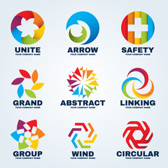 Circle creative logo vector art design for business