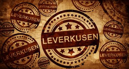 Leverkusen, vintage stamp on paper background