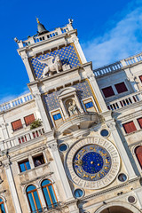 Torre dell Orologio-Clock Tower-in Venice, Italy. Astronomical c