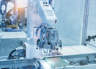 artificial intelligence machine at industrial manufacture factor