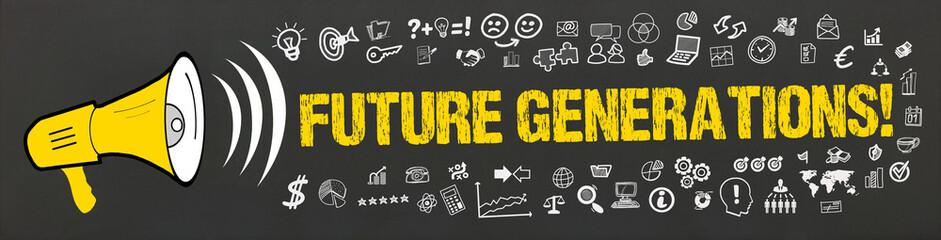 Future Generations! / Megafon mit Symbole
