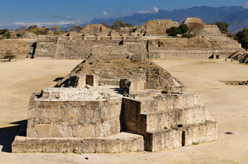 Monte Alban Mayan ruins in Mexico