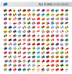 All World Waving Vector Flags - Collection
