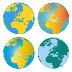 Four Colorful Earth Images