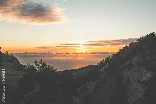 """Sunset Mountains Landscape Travel serene scenic view ..."