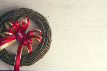 heart ribbon and vine