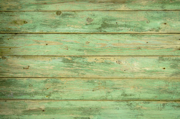 Green color old wooden