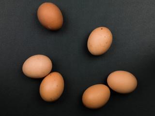 Six Fresh Hens Eggs