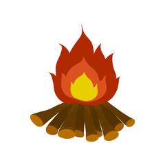 campfire isolated illustration on white background