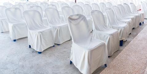 Empty wedding chairs elegantly