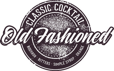 Old Fashioned Cocktail Sign