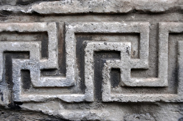 Wall Mural - Ancient Roman architectural details