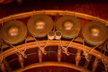 Khong wong yai Old.Thailand ancient instrument ancient.