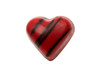 chocolate candy heart isolated
