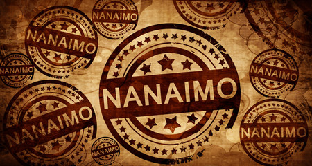 Nanaimo, vintage stamp on paper background